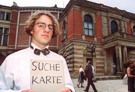 Lístky do Bayreuthu? Černý trh s nimi jen kvete.