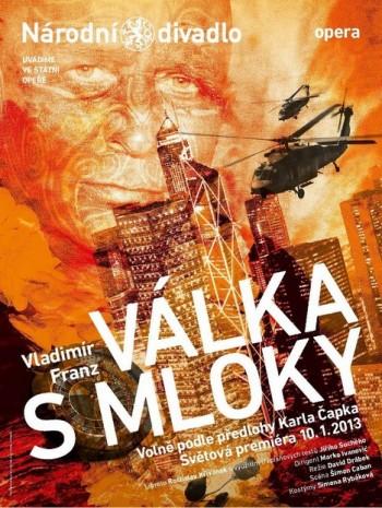 Franzova Válka s mloky má už i svůj plakát