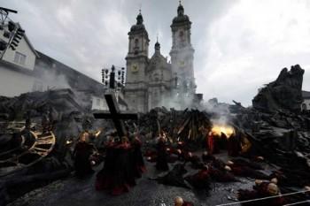 Dechberoucí Attila v St. Gallenu, s naším sborem