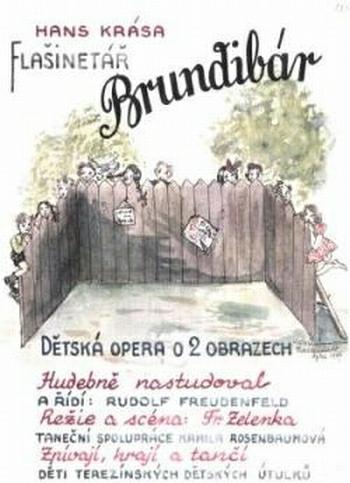 Hans Krása: Brundibár - plakát původního terezínského provedení v roce 1943 (foto archiv)