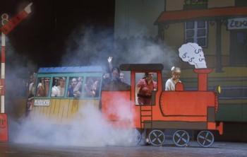 Dětská opera jede vlakem