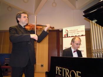 Houslový recitál – Leoš Čepický (housle), Igor Ardašev (klavír) – Pardubice 2014 (foto Jana Macáková)
