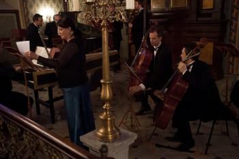 Hommage a J. S. Bach – Barocco sempre giovane, Ad-El Shalev (cembalo, dirigent), Julie Braná (flétna) – Synagoga Heřmanův Městec 2014 (foto Lada a Miloš Kolesárovi)