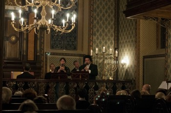 Hommage a J. S. Bach – Barocco sempre giovane, Ad-El Shalev (cembalo, dirigent), Julie Braná (flétna), Jakub Kydlíček (flétna) – Synagoga Heřmanův Městec 2014 (foto Lada a Miloš Kolesárovi)
