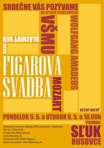 Bratislava: Figarova svatba na VŠMU