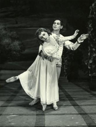 Sergej Prokofjev: Romeo a Júlia (1954) - Trúda Tašká-Boudová, Jozef Zajko (foto Gejza Podhorský)
