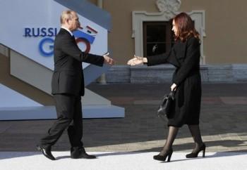 Putin má novou harmoniku