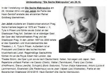 Jan Ježek zachraňuje Bavorskou státní operu