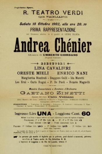 Mučedník jménem Andrea Chénier