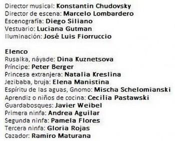 Rusalka měla premiéru v Chile, Princem byl Peter Berger. Podívejte se