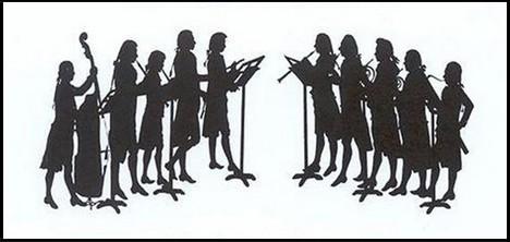 Dechová harmonie oettingen-wallersteinského dvora – dobová stínová silueta