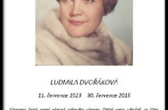 Poslední rozloučení s Ludmilou Dvořákovou