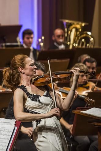 Philharmonia Orchestra London - Christoph von Dohnányi & Carolin Widmann Dvořákova Praha 12.9.2015 (foto Martin Divíšek)