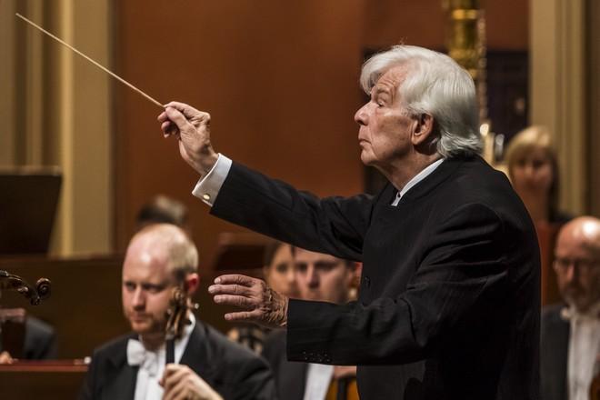 Philharmonia Orchestra London a Christoph von Dohnányi - Dvořákova Praha 12.9.2015 (foto Martin Divíšek)