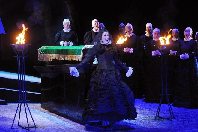 Puccini: Edgar - Lívia Obručník Vénosová (Fidelia) - DJKT Plzeň (foto Pavel Křivánek)