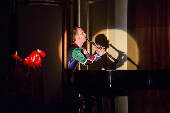 K.Stockhausen: Harlekýn - Karel Dohnal - Moravský podzim 2015 (foto Petr Francán)