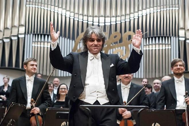 Slovenská filharmónia - Ion Marin - Bratislavské hudobné slávnosti 2015 (foto Alexander Trizuljak)