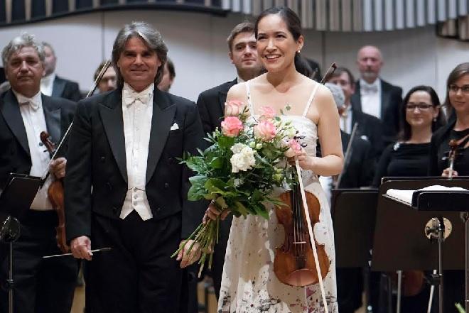 Slovenská filharmónie - Ion Marin, Viviane Hagner - Bratislavské hudobné slávnosti 2015 (foto Alexander Trizuljak)