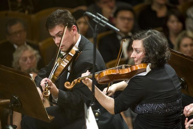 Jiří Vodička - Česká filharmonie - Jiří Bělohlávek - zahajovací koncert 1.10.2015 (foto ČF)