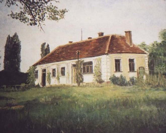Fibichova myslivna ve Všebořicích (autor olejomalby Johan Mareczech)