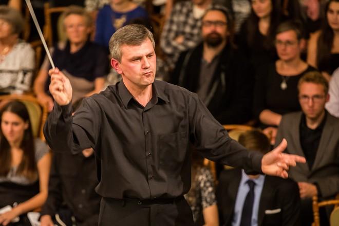 Klasika a audiovizuální koncert - Pavel Šnajdr - Moravský podzim 2015 (foto Petr Francán)