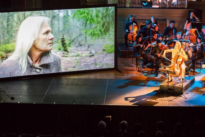Klasika a audiovizuální koncert - Pavel Šnajdr, Konstanze von Gutzeit, Orchestr Berg - Moravský podzim 2015 (foto Petr Francán)