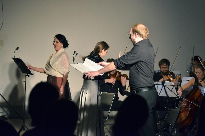 Ensemble Opera Diversa - Lucie Kašpárková, Jan Šťáva - Dům umění města Brna 2015 (foto Opera Diversa)