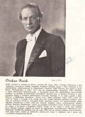 Otakar Pařík (foto Sběratelský antikvariát Smetana)