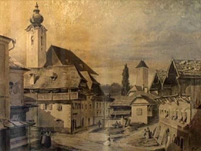 Kostel svatého Mikuláše v Oberndorfu (foto archiv)