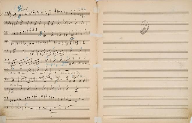 Dvořákova partitura (zdroj New York Philharmonic Leon Levy Digital Archives)