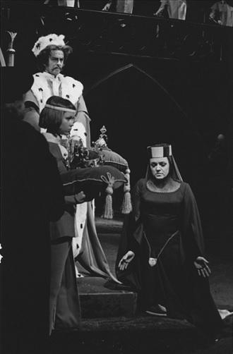 B.Smetana: Dalibor - Čeněk Mlčák (Dalibor), Eva Gebauerová (Milada), SD Ostrava 1964 (foto František Krasl)