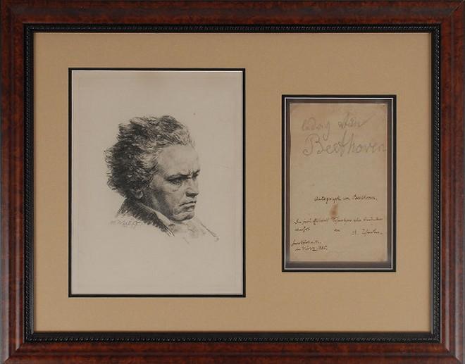 Vzácný podpis tužkou Ludwiga van Beethovena (zdroj rrauction.com)