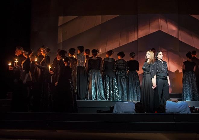 G.Verdi: Aida - Alžběta Vomáčková (Amneris), Paolo Lardizzone (Radames) - JD České Budějovice 2015 (foto Michal Siroň)