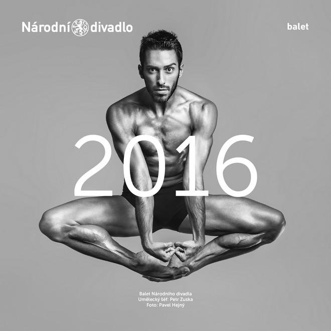 Kalendář Baletu Národního divadla - Francesco Scarpato (obálka) (foto Pavel Hejný)