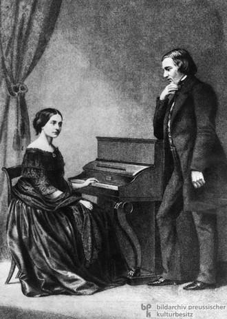 Robert a Clara Schumann (zdroj germanhistorydocs.ghi-dc.orgjpg)