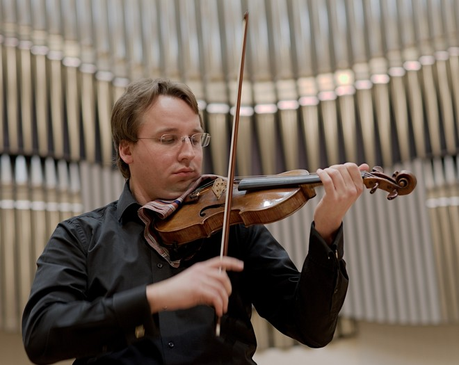 Hommâge à Bohdan Warchal - Slovenský komorný orchester Bohdana Warchala - Pavel Bogacz ml. - Koncertná sieň Slovenskej filharmónie (foto Jan Lukas)