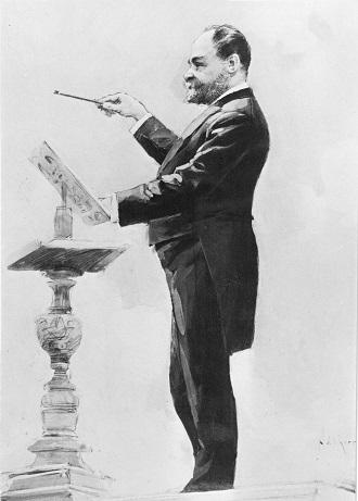Antonín Dvořák dirigující (foto ČF)