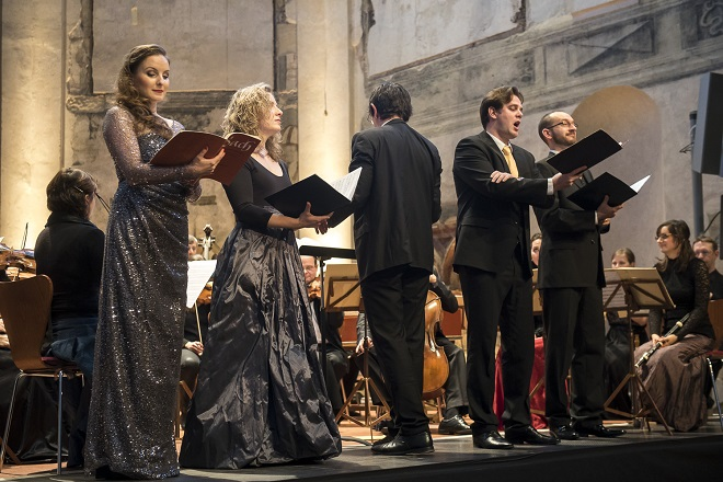 Bachovy světské kantáty - Natalia Rubiś–Krzeszowiak, Kamila Mazalová, Václav Čížek, Jaromír Nosek - Praha 2015 (© Collegium 1704 -- Petra Hajská)