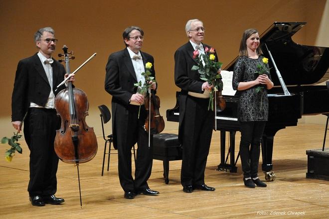 ČSHK - Klavírní kvarteto Antonína Dvořáka Vídeň - Jonáš Krejčí, Milan Šetena, Filip Waulin, Marie Pospíšilová-Vigilante (foto © Zdeněk Chrapek)