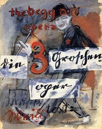 Brecht/Weill: Die Dreigroschenoper - plakát berlínského uvedení v roce 1928 (foto archiv)