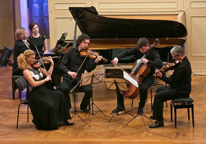 Galakoncert Concentus Moraviae - Pavel Haas Quartet & Ivo Kahánek (foto © Concentus Moraviae / Jiří Sláma)