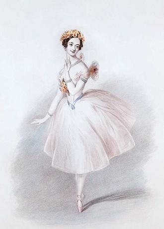 Maria Taglioni (Sylfida) - premiéra 12. marca 1832 (foto archív)