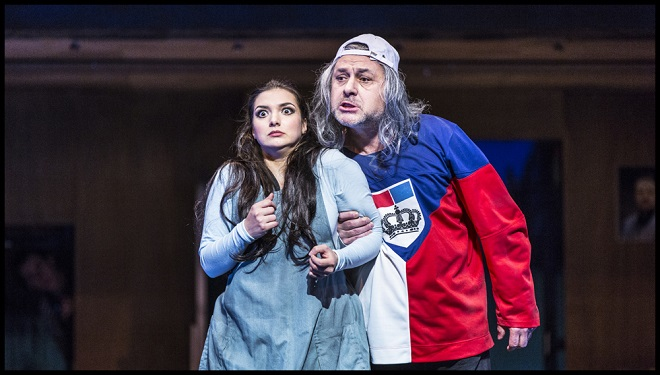 Gioacchino Rossini: Popelka - Lena Belkina (Angelina), Jiří Sulženko (Don Magnifico) - ND 2016 (foto Patrik Borecký)