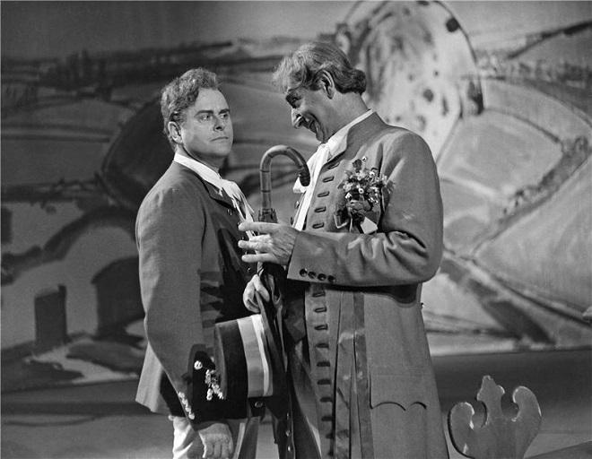 B.Smetana: Prodaná nevěsta - Ivo Žídek (Jeník), Eduard Haken (Kecal) - ND 1971 (foto archiv ND)