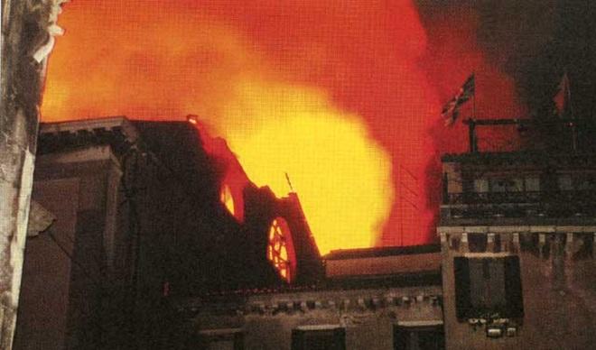 Gran Teatro La Fenice - požár 29.1.2016 (foto archiv)