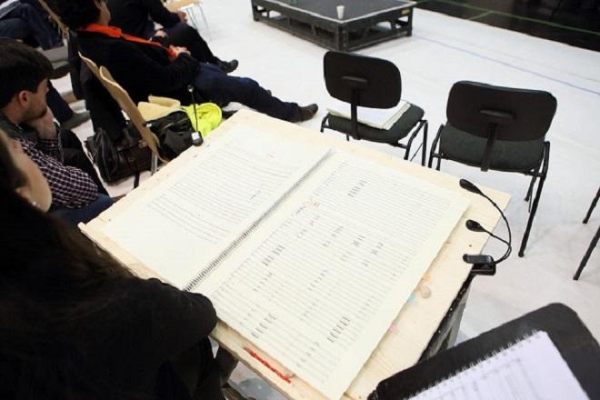 ze zkoušek Srnkova Jižního pólu v Bavorské státní opeře (foto Bavorská státní opera)