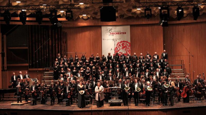 Český filharmonický sbor - Beethovenhalle Bonn prosinec 2015 (foto archiv ČFS Brno)