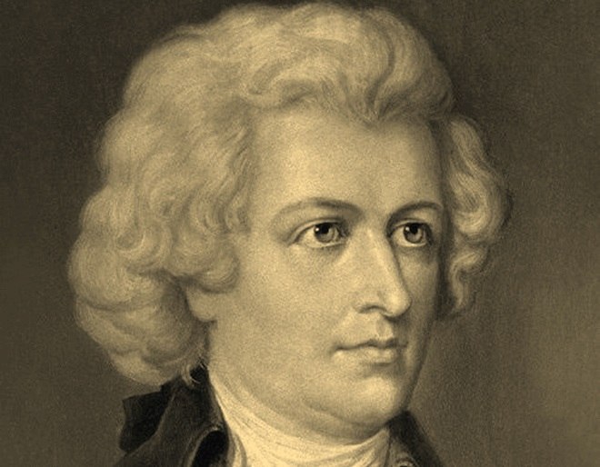 Wolfgang Amadeus Mozart - idealizovaný portrét (Ernst Hader cca 1880)