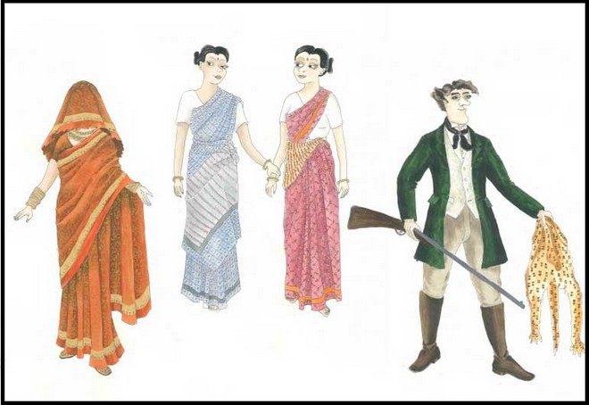návrhy kostýmů Roberta Kempa z The Pearlfishers (foto Opera Australia)