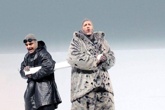 Miroslav Srnka: South Pole – Rolando Villazón (Robert Scott) a Thomas Hampson (Roald Amundsen) - Bayerische Staatsoper Mnichov (zdroj FB Bayerische Staatsoper)